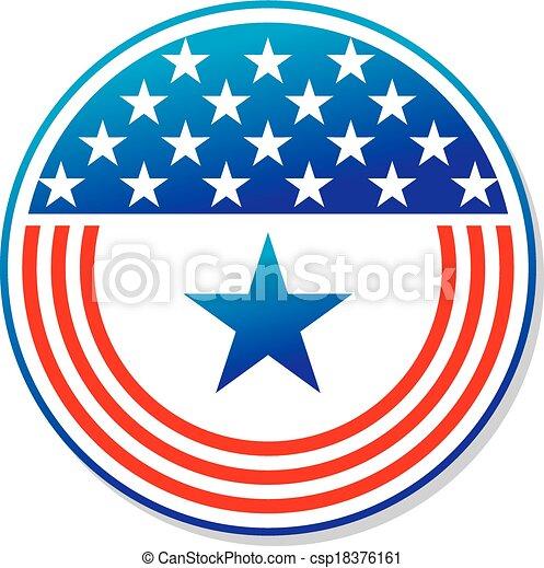 Estrellas y rayas patrióticas americanas - csp18376161