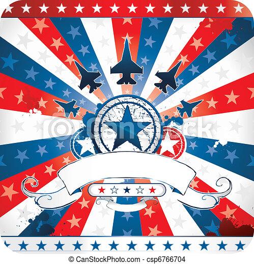 Diseño patriótico americano - csp6766704