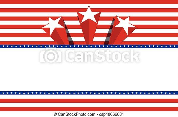 Trasfondo patriótico, vector - csp40666681