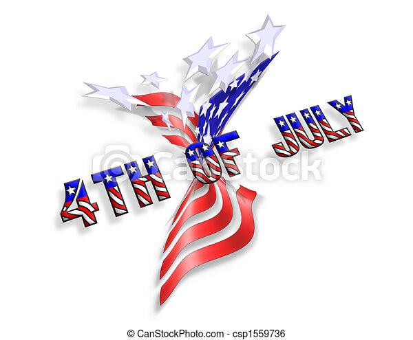 Estrellas y rayas de ícono patriótico - csp1559736