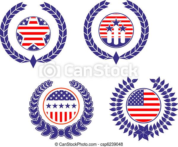 Simbolos patrióticos americanos - csp6239048