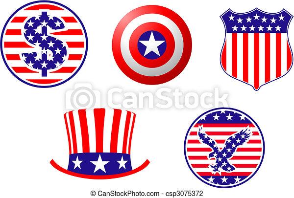 Simbolos patrióticos americanos - csp3075372