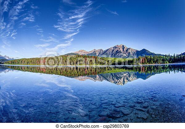 Patricia Lake at Jasper, Alberta - csp29803769