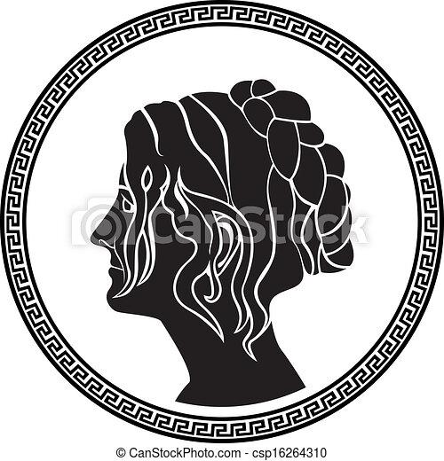 patrician, ギリシャ語, 女性, プロフィール - csp16264310