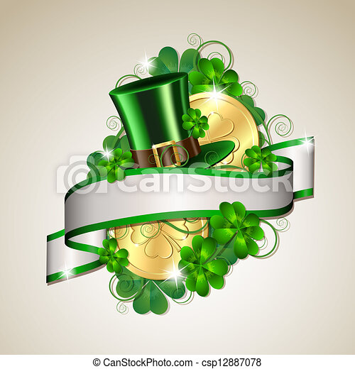 Patrick day card - csp12887078