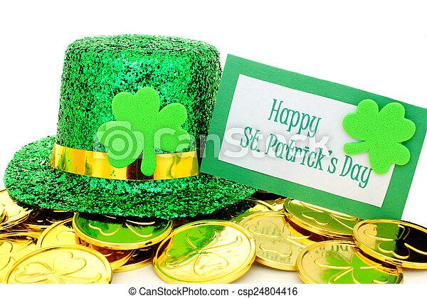 Patricks felice giorno st oro sopra monete patricks - St patricks giorno fogli di colore giorno ...