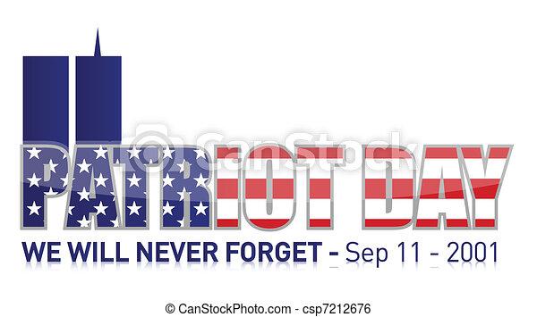 Patriot Day / september 11 - csp7212676