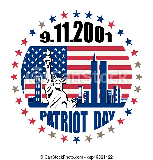 Patriot day, we will never forget - csp49821422