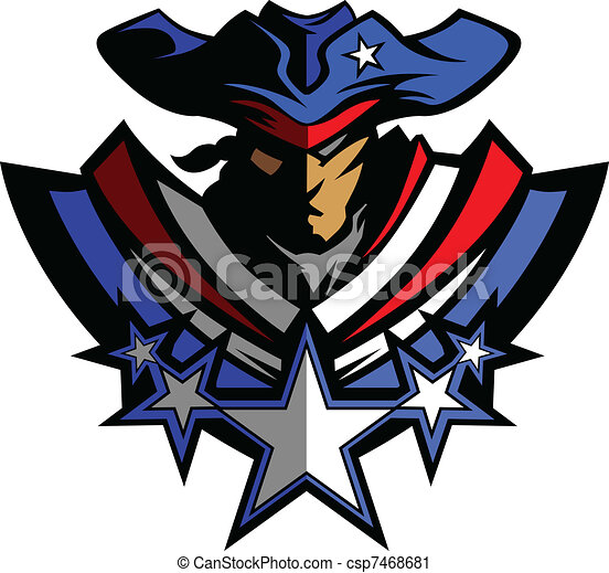 Patriot Mascot with Stars and Hat G - csp7468681