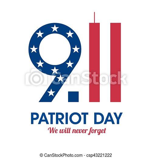 El póster del Día Patriota - csp43221222