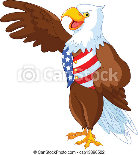 Patriotic American Eagle - csp13396522