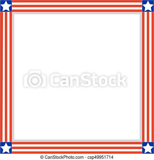 Patriotic American flag frame - csp49951714