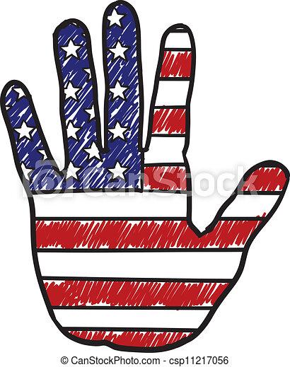 patriotic american hand sketch doodle style patriotic hand rh canstockphoto com patriotic clipart free patriotic clip art borders free