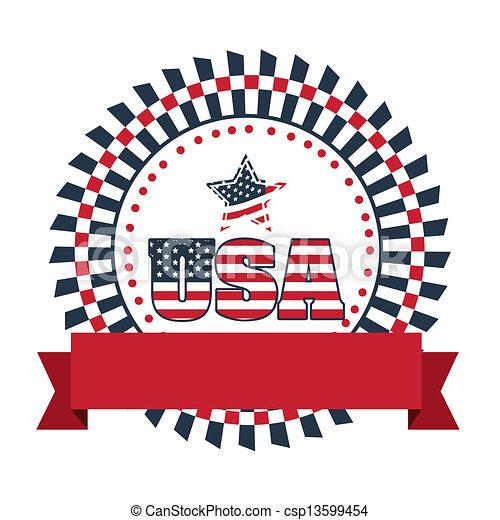 Patriotic background - csp13599454