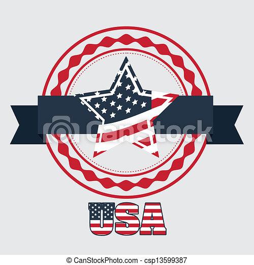 Patriotic background - csp13599387