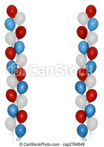 Patriotic balloons border image and illustration composition red patriotic balloons border csp2764849 thecheapjerseys Gallery