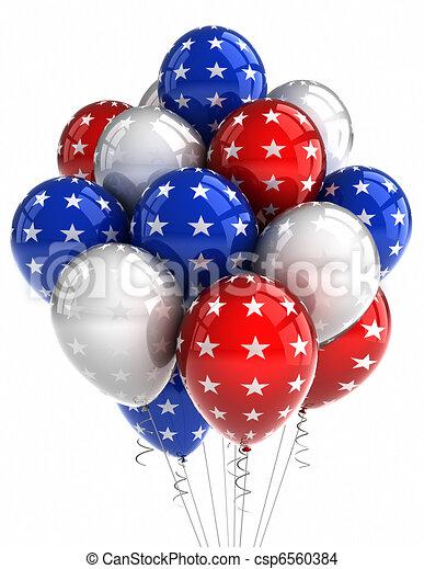 Patriotic balloons - csp6560384