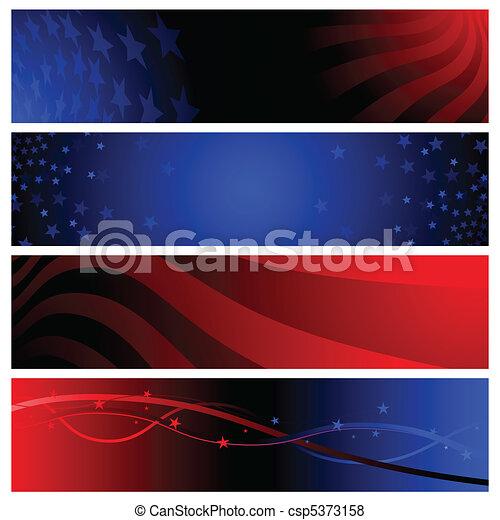 Patriotic banners - csp5373158