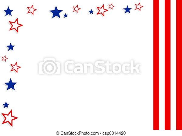 Patriotic Border - csp0014420