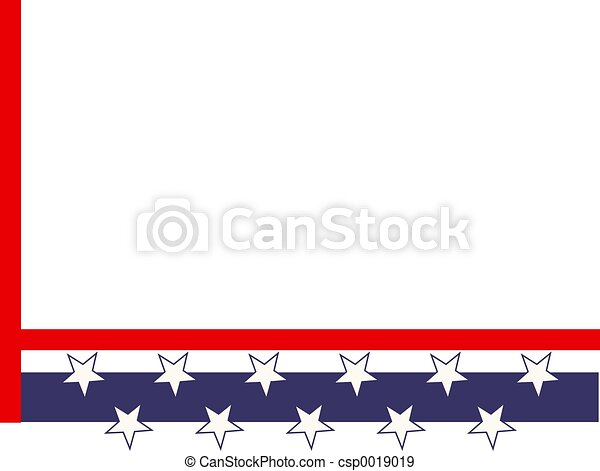 Patriotic Border - csp0019019