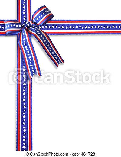 Patriotic Border Stars and stripes  - csp1461728