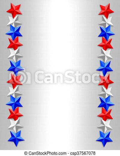 Patriotic Christmas Background.Patriotic Border Stars
