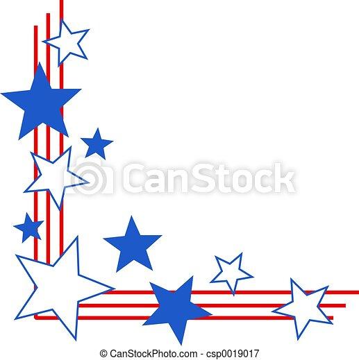 patriotic border patriotic stars and stripes corner border stock rh canstockphoto com Free Patriotic Banner Clip Art patriotic borders clip art free printable