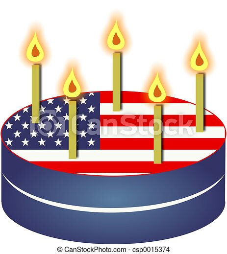 Amazing Patriotic Cake Patriotic American Flag Cake With Candles Useful Funny Birthday Cards Online Fluifree Goldxyz