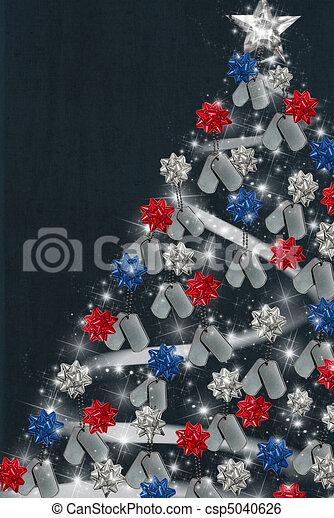 Patriotic Christmas.Patriotic Christmas Tree