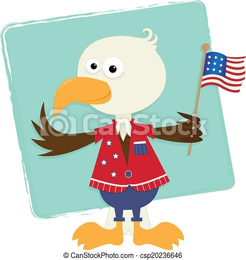 Patriotic Eagle - csp20236646