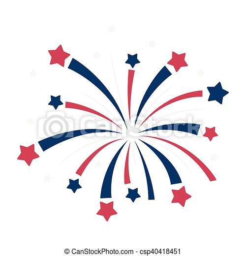 patriotic fireworks icon in cartoon style isolated on white rh canstockphoto com patriot day clip art free Happy Patriots Day