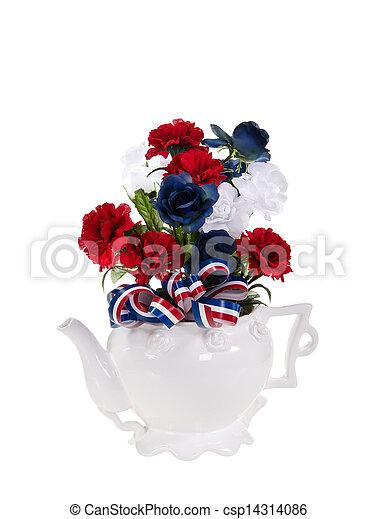 Patriotic flower arrangement patriotic red white and blue patriotic flower arrangement csp14314086 mightylinksfo