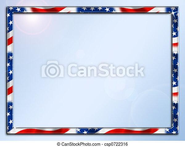 Patriotic Frame Border - csp0722316