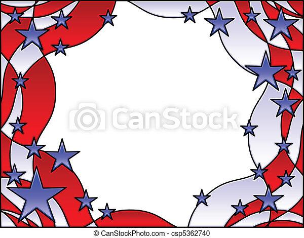 Patriotic frame - csp5362740