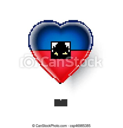 patriotic heart symbol with haiti flag vector illustration vector rh canstockphoto com Patriotic Banner Clip Art Patriotic Christmas Clip Art