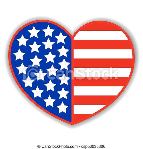 patriotic heart with american symbols flag patriotic heart rh canstockphoto co uk Patriotic Eagle Clip Art American Flag Background Clip Art