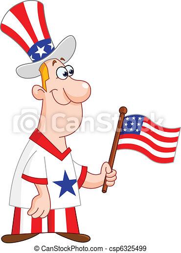 Patriotic man - csp6325499