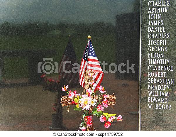 Patriotic Memorial Wall - csp14759752