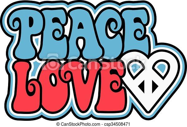 Patriotic Peace Love - csp34508471