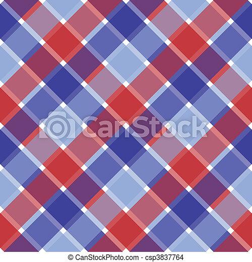 Patriotic Plaid - csp3837764