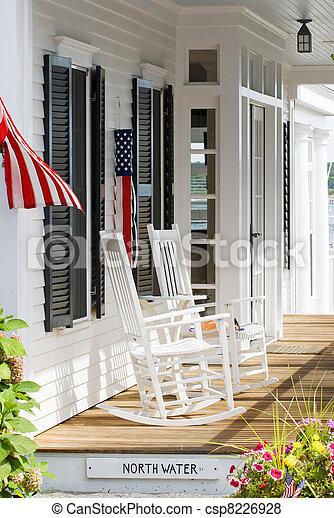 Patriotic porch - csp8226928