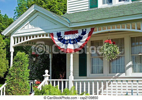 Patriotic Porch - csp2109850