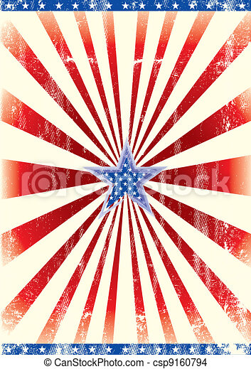 Patriotic star background - csp9160794