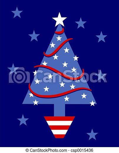 Patriotic Tree - csp0015436