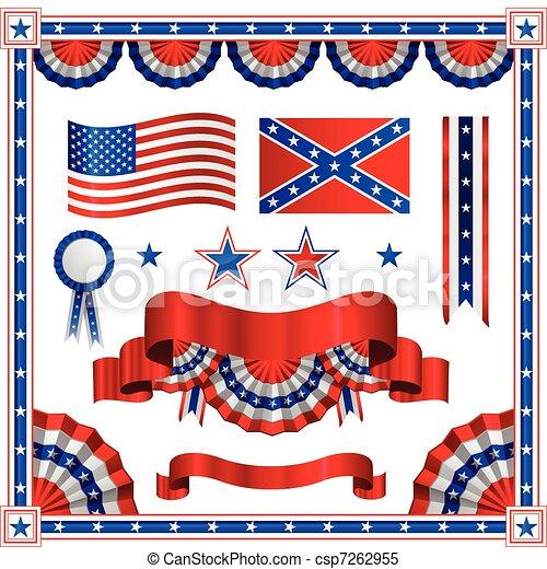 patriotique, américain - csp7262955