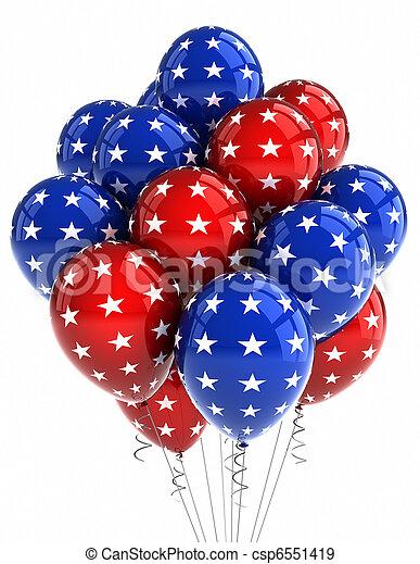 patriotique, ballons - csp6551419