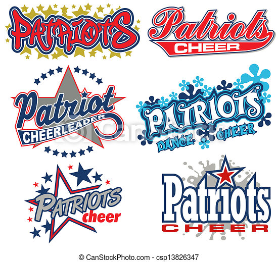 patriots cheer design collection - csp13826347