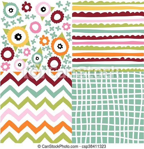 Un conjunto de patrones sin costura - csp38411323