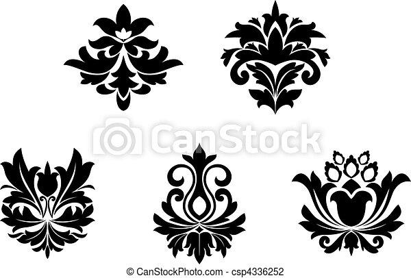 patrones, flor - csp4336252