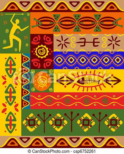 Patrones étnicos y adornos - csp6752261